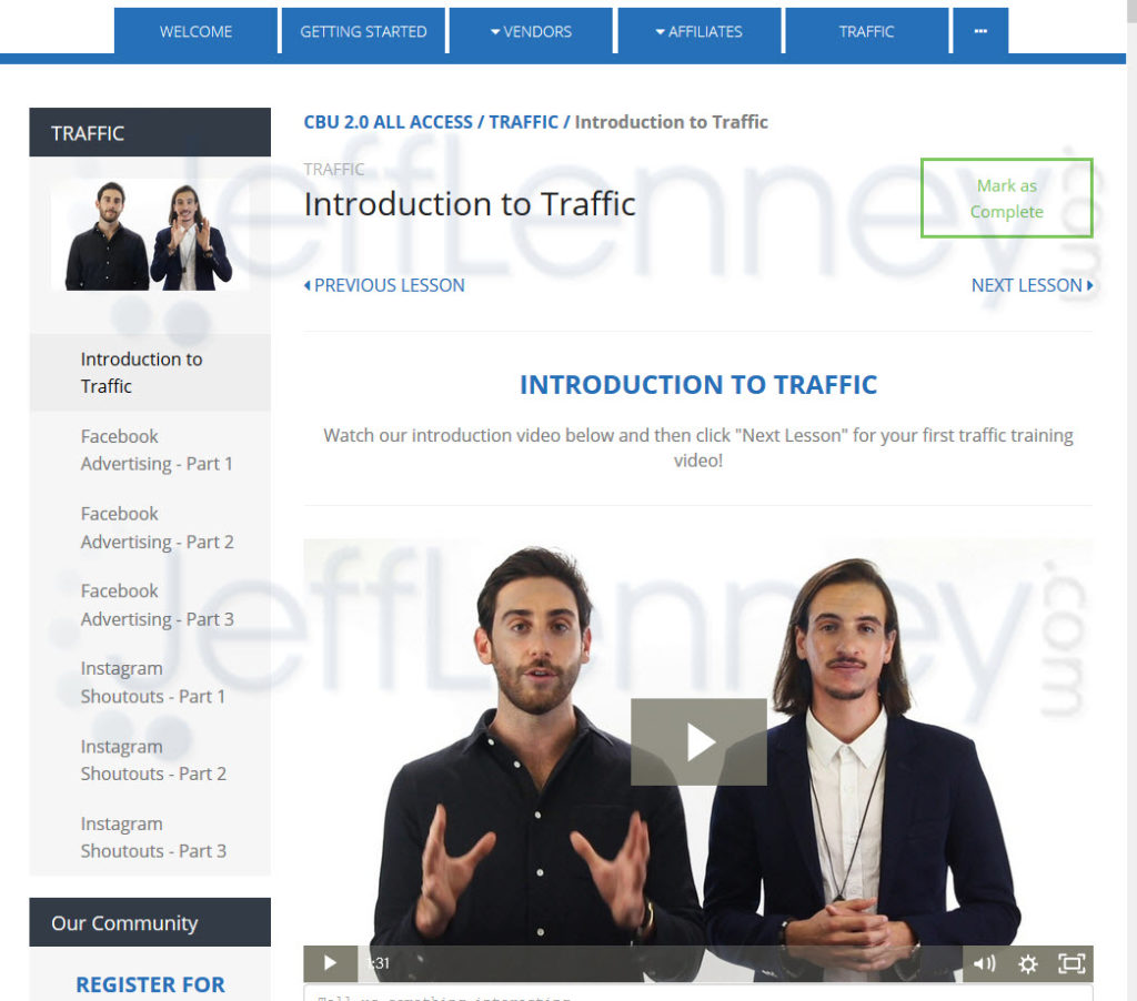 Clickbank University Traffic