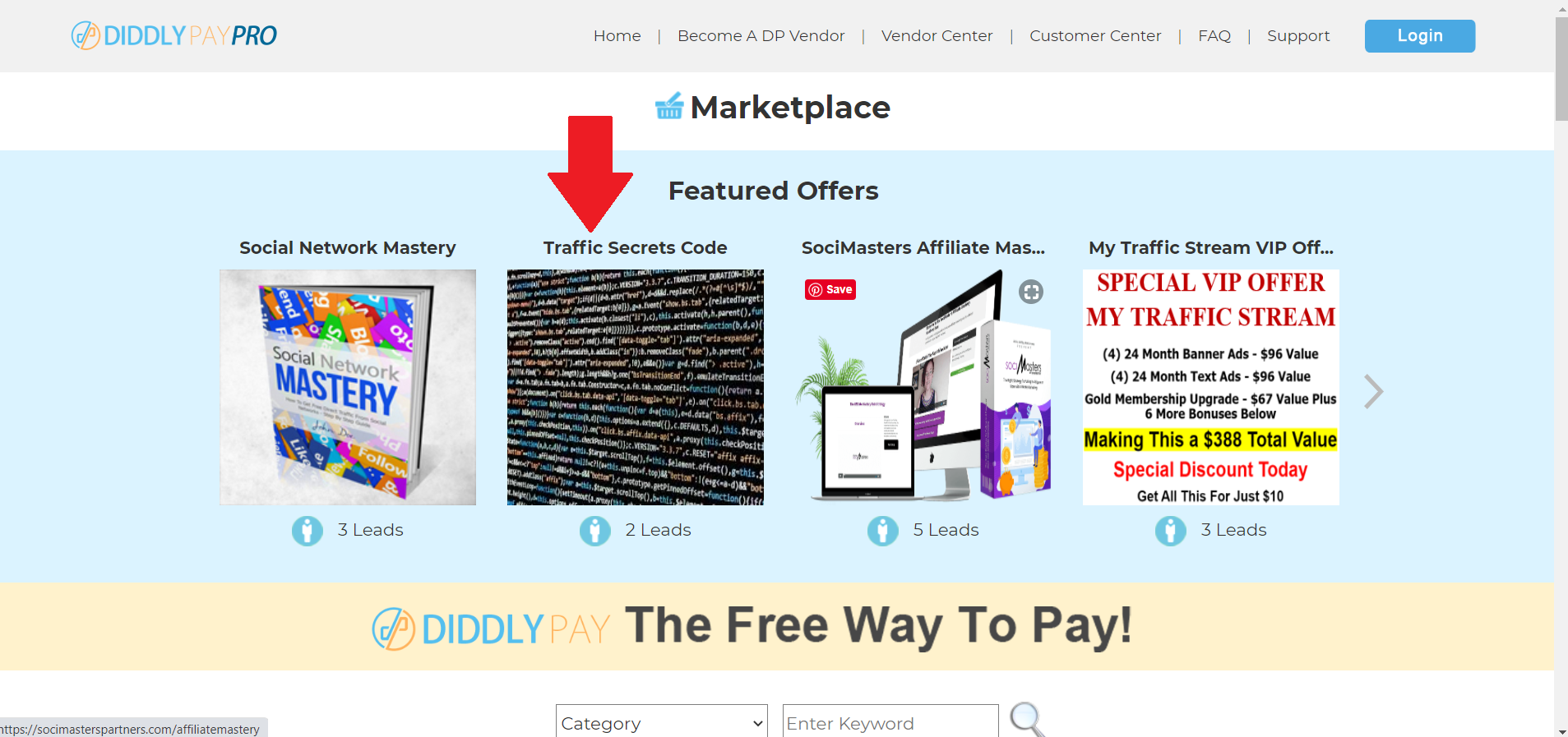 Diddly Pay Pro Marketplace