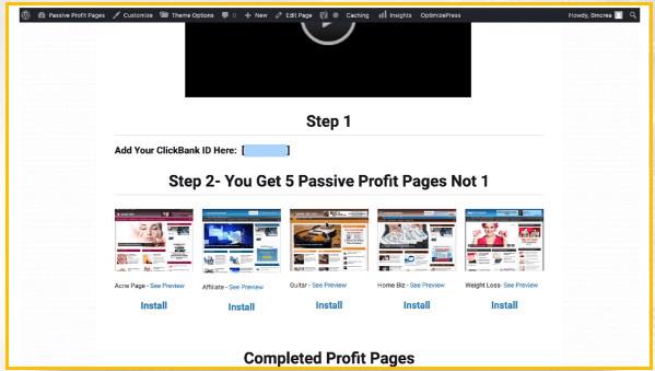 Passive Profit Pages Landing Pages