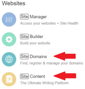 Site Domain & Site Content