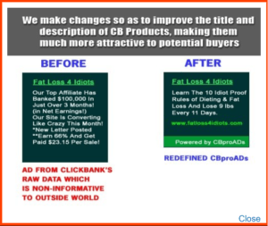CBproAds Ads Difference