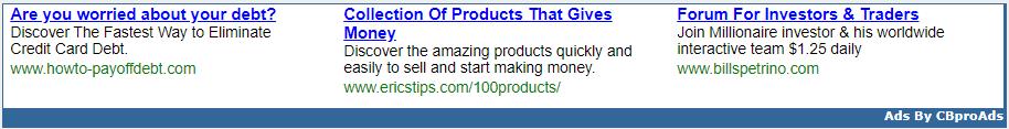 CBproAds Contextual Ads